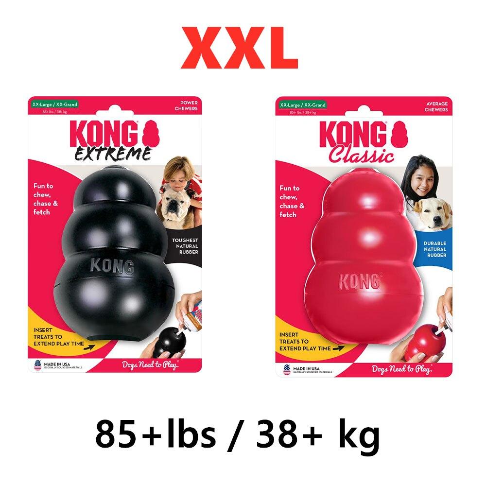XXL-Размер KONG Классическая собака жевательная игрушка Коллекция до 85 + фунтов (38 + кг)