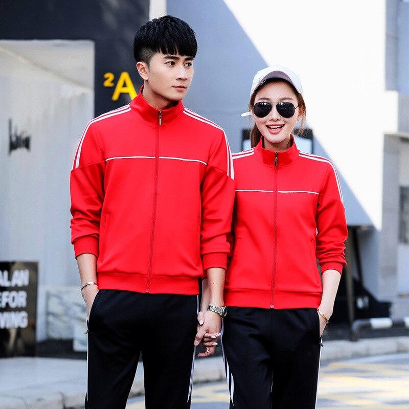 Sports Set Men's 2018 Spring New Style Casual Couples Sports Clothing WOMEN'S Suit Middle School Students School Uniform Busines