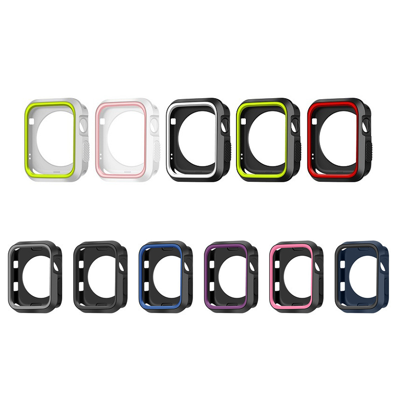 Watch Cover for Apple Watch Series 4 44mm 40mm Case for iWatch 1/2/3 42mm 38mm Watch Accessories Soft silicone protective shell