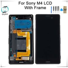 5.0 Inch Single Dual SIM LCD for SONY Xperia M4 Aqua Display Touch Screen with Frame for SONY Xperia M4 Display E2303 E2333(China)
