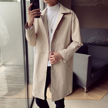 Mens Trench Coat 2020 Mens Mid Length Coat Male Slim Casual Jacket Men's Trenchc