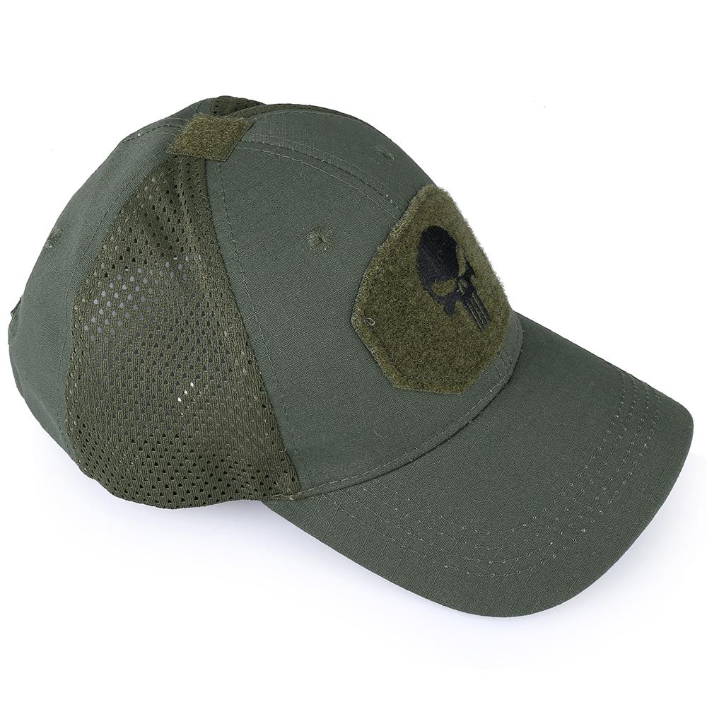 Skull Tactical Military Airsoft Cap Adjustable Breathable Sun Visor Trucker Hat Mesh Hunting Hiking Baseball Skeleton Snapback 39