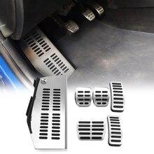 Nuevo coche Pedal de acero inoxidable almohadilla para pie resto para Volkswagen VW Polo Golf 4 Bora escarabajo RSi GTI R32 Audi A3 coche de estilo