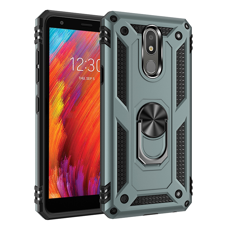 For LG Aristo 4 Plus Case Luxury Metal Ring Holder Phone Case On The Shockproof Cover For LG Aristo 4+/K30 2019/X320/X220/Arist4