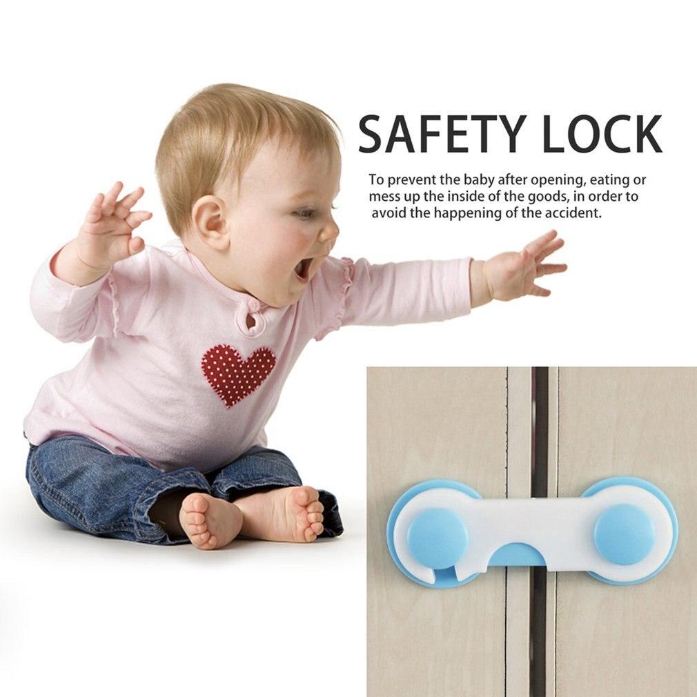 2020 Child Lock Protection Children Plastic Protect Safety Lock Locking Doors Drawer Cupboard Wardrobe Door Children's Safety