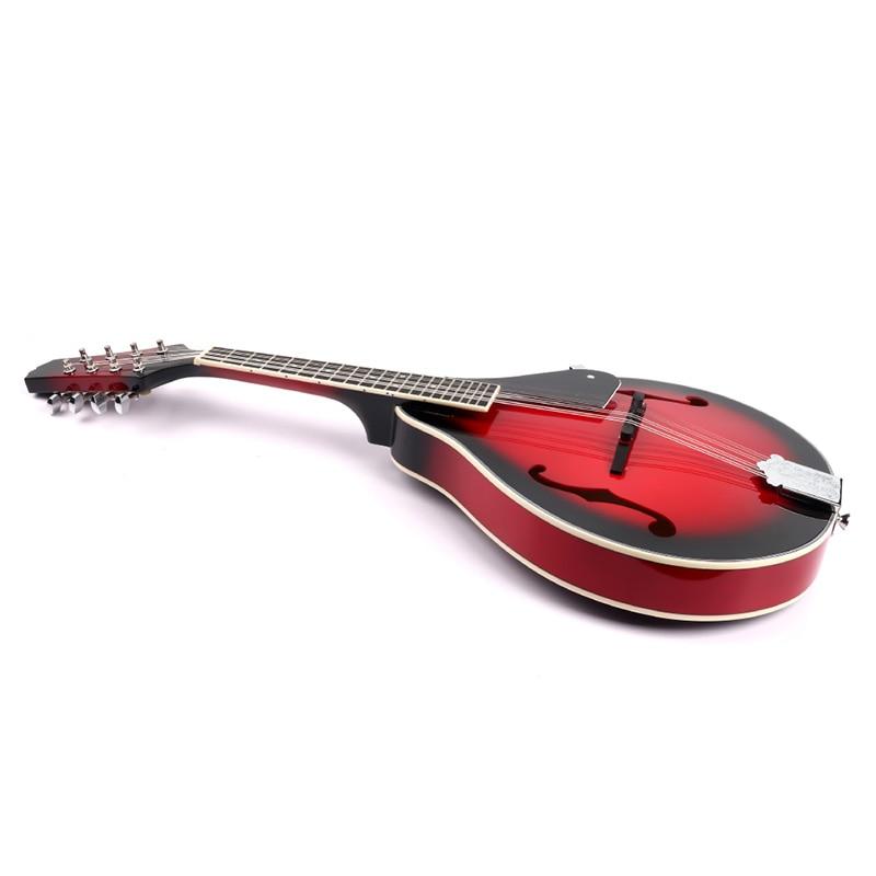 8 String Tiglio Sprazzo di Sole Mandolino Strumento Musicale con Corda di Acciaio in Legno di Palissandro Mandolino Strumento a Corde Ponte Regolabile - 5