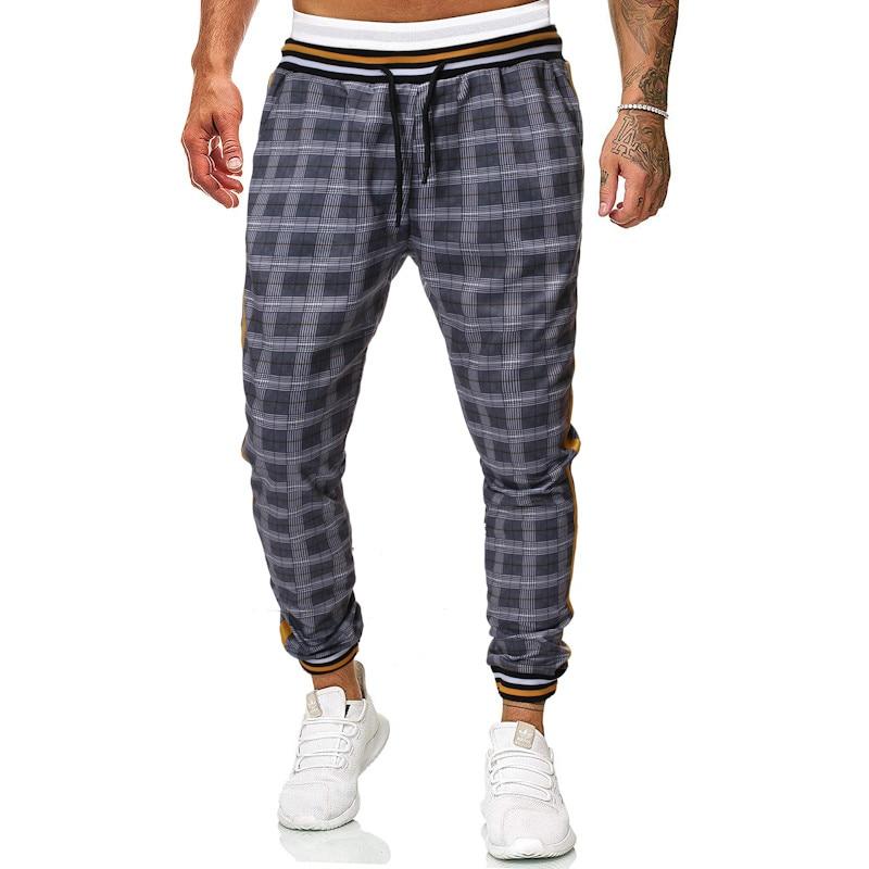 Plaid Pants Men's Sweatpants Joggers Loose Hip Hop Casual Trousers Pantalon Homme 2019 Nouveau TJWLKJ