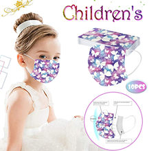 10pc crianças crianças máscara de boca dos desenhos animados impressão mascarillas segurança protetora máscara facial descartável 3-camada earloop masque máscaras