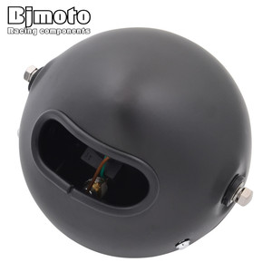 "Image 4 - Headl אור להארלי 6.5 ""אופנוע פנס הקרנת מנורת עבור הונדה ימאהה קוואסאקי ופר Bobber סיור קפה רייסר"
