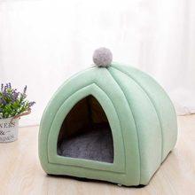 Casa de gato de design de coelho portátil com um buraco quente macio camas de animais de estimação tenda removível lavável gatos ninho maca canil filhote de cachorro
