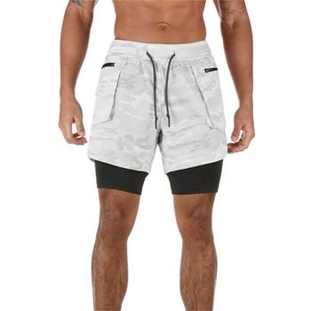 2020 nowych mężczyzna szorty gimnastyczne dwupokładowe szorty do biegania mężczyźni letnie szorty treningowe Jogger kamuflaż Fitness odzież sportowa tanie i dobre opinie KAIERKANG Poliester Bieganie Pasuje prawda na wymiar weź swój normalny rozmiar Sports men shorts Stałe M L XL XXL XXXL