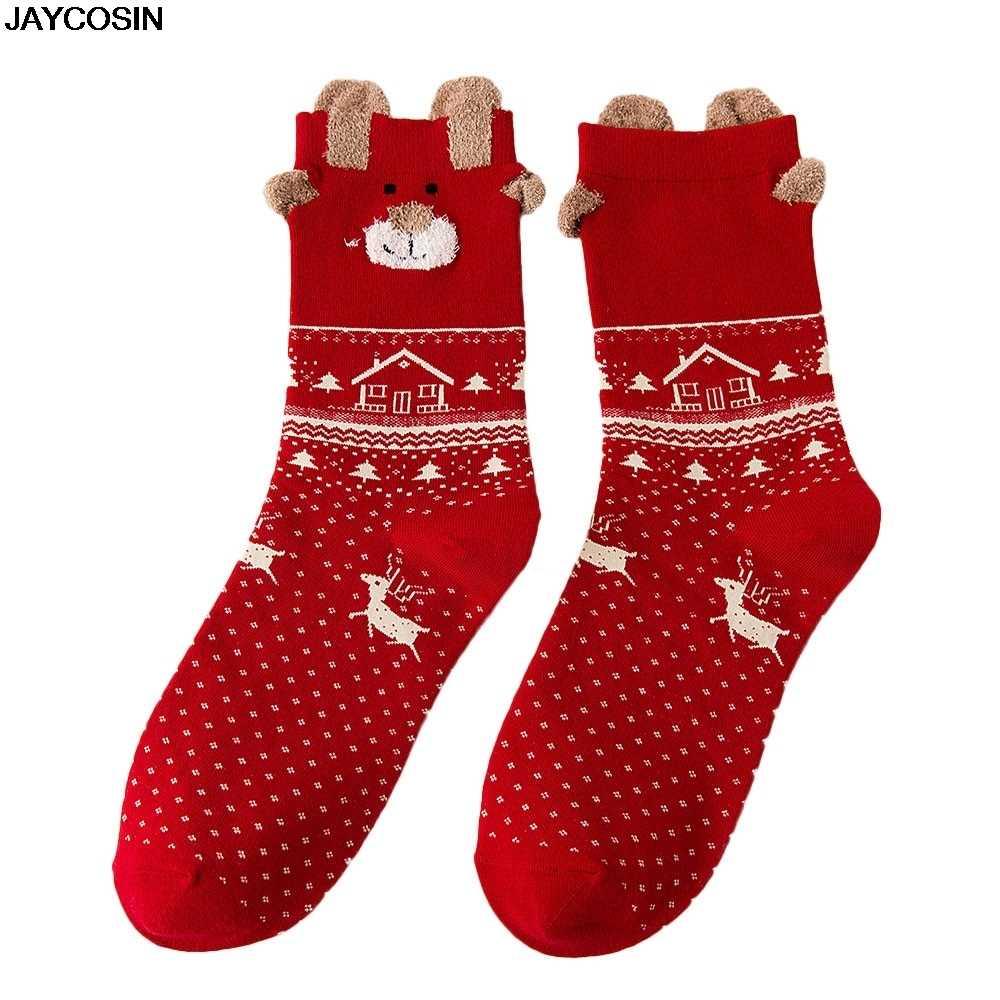 JAYCOSIN 1 Paar Neue Harajuku Antumn Winter Warme Frauen Socken Nette Retro Weihnachten Socken Hohe Qualität Baumwolle Socken Unisex heißer 9909
