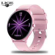Lige Модные Смарт часы для женщин спортивный фитнес трекер монитор