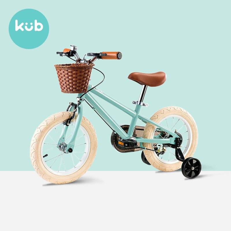 Novo crianças bicicleta 14/16 polegada 3 - 9 anos de idade meninos e meninas princesa do vintage bicicleta bebê crianças equilíbrio bicicleta com roda auxiliar