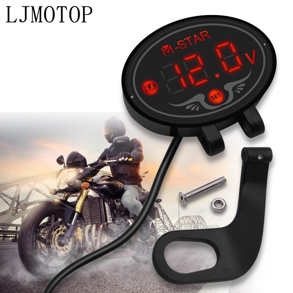 Testeur de tension à affichage Led pour moto, testeur de voltmètre, pour honda CBR 1000 RR 1000RR, autocollant dio cr Cbr 600 yzf r3 MT07 mt 03 10