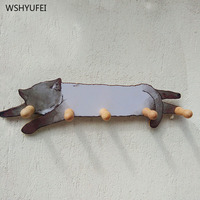 Cute vitality kitten decoration hook creative porch wall hanging coat hook practical personality key clothes bag clothes hook