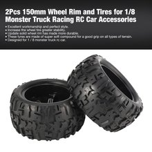 2Pcs 150mm Wheel Rim and Tires for 1/8 Monster Truck Traxxas HSP HPI E-MAXX Savage Flux Racing RC Car Model Toys Hobby Parts free shipping rc parts wheelie bar with 2 wheel for traxxas x maxx xmaxx imported nylon raise head wheel stand up tires wheels