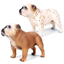 Childrens Simulation wild animal solid static model large British bulldog pet dog childrens toy ornaments