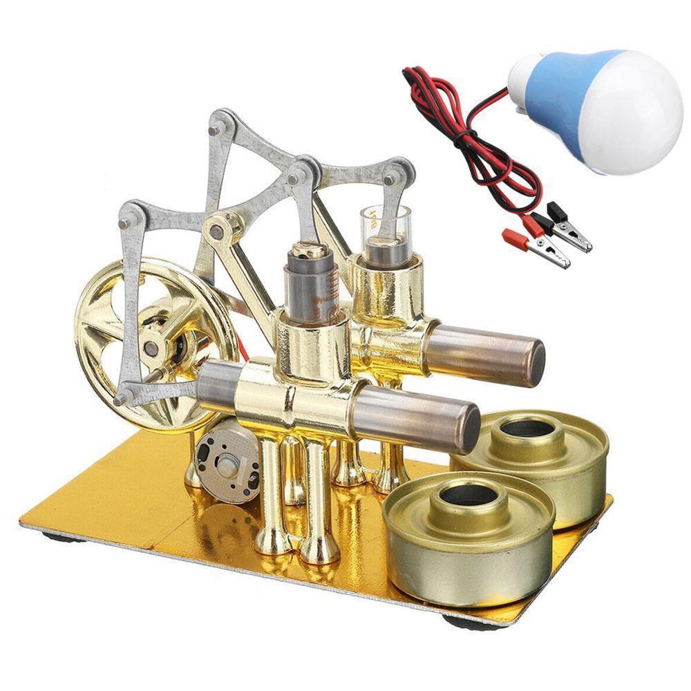 Balance Stirling Engine Miniature Model Steam Power Technology Scientific Power Generation Experimental Toy