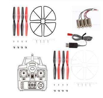 Skytech TK110HW Syma X56 X56W Quadcopter de piezas de repuesto para motor CW CCW marco para cuchillas conjunto