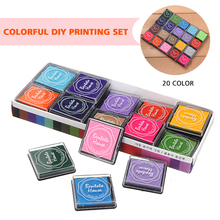 20pcs Colorful Giant Paint Ink Pads Scrapbooking Kids Finger Painting Craft School Supplies For Finger Print Art