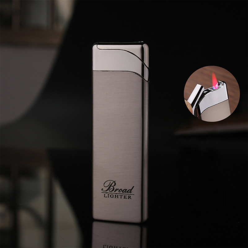 Torch Turbo Windproof Pipe Lighter Ultra-Thin Compact Metal Long Stripe Jet Straight Fire Gas Butane Cigarettes Pocket Lighters