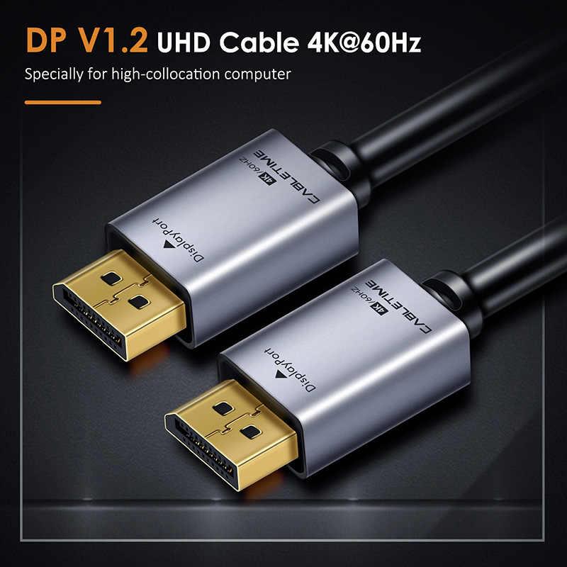 2019 جديد ديسبلايبورت كابل 4k 60hz 1M ذكر إلى DP 1.2 كابل DP فيديو الصوت عرض ميناء كابل 2 متر ل HDTV العارض PC C247