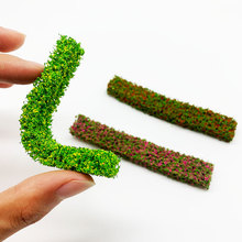 2PCS Shrub Strips Green Sand Table Miniature Model Simulation DIY Materials Grass Fence For Outdoor Building  Railroad Diorama