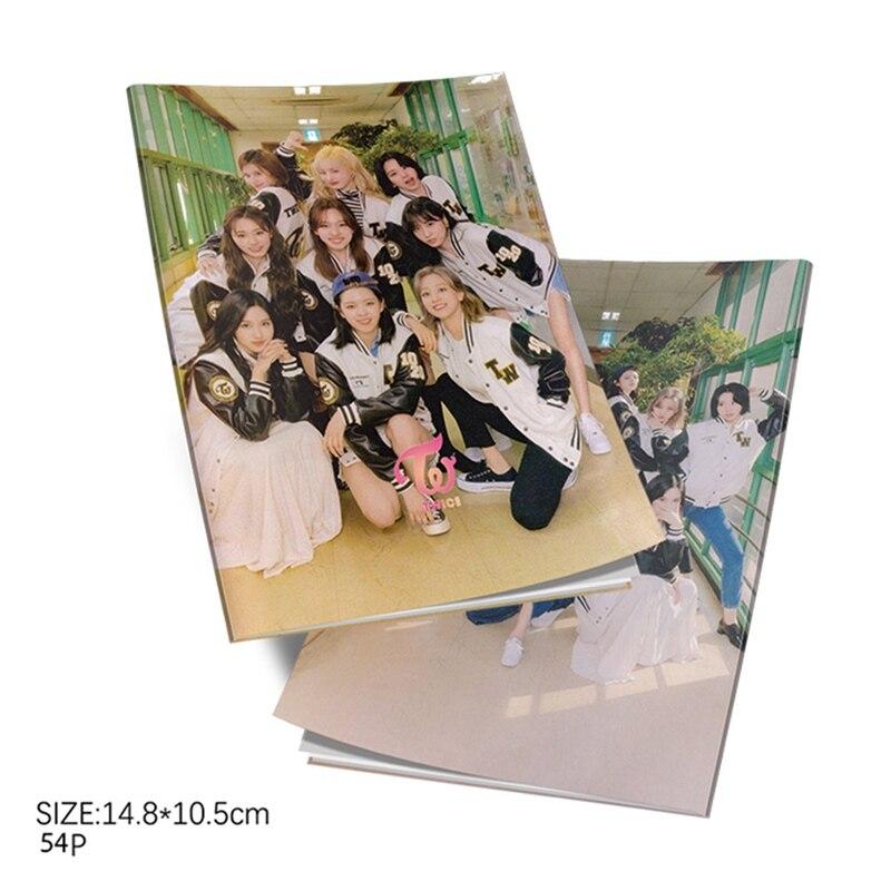 Kpop TWICE University-TWICEZINE Mini Photobook K-pop TWICE Mini Photo Album Photo Card Fans Collection Gifts
