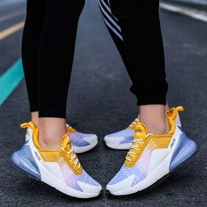 Image 4 - Jzzddown Unisex renkli hafif Sneakers ayakkabı kadın erkek çift severler kadınlar nefes Zapatos De Mujer spor ayakkabılar