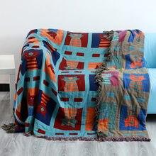 Todas as estações universal casa folha de cama sofá cobertor recém-nascidos crianças consolador xadrez 230x250cm