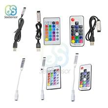 DC 5V 12V Volt RGB USB IR RF Remote Controller LED Strip Light 3 17 24 Key Wireless for SDM3528 Strips