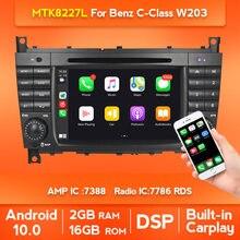 Reproductor de DVD para coche, Radio, GPS, DVD, DSP, 4 núcleos, para mercedes-benz W203, W209, W169, W219, Clase A, A160, c-c200, CLK200, CLK350