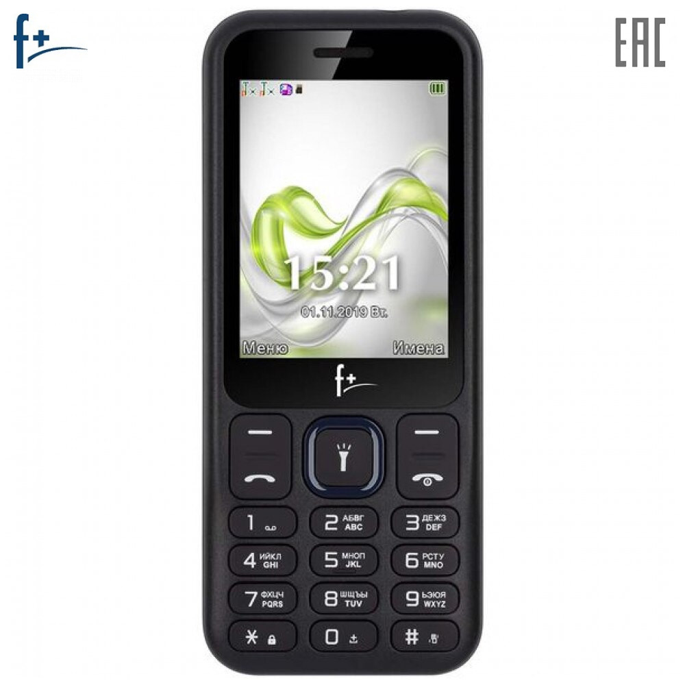Mobile Phones F+ F255 Black-Dark blue cellular phone cellphone F 255 2.4'' 240х320 260MHz 1 Core 32MB RAM 32MB 0.08Mpix 2 Sim Micro-USB 1000mAh F