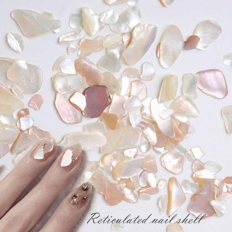 Hnuix 1 caixa de concha pedra unhas arte glitter para unhas uv gel unha polonês flakies decoração do prego acessórios