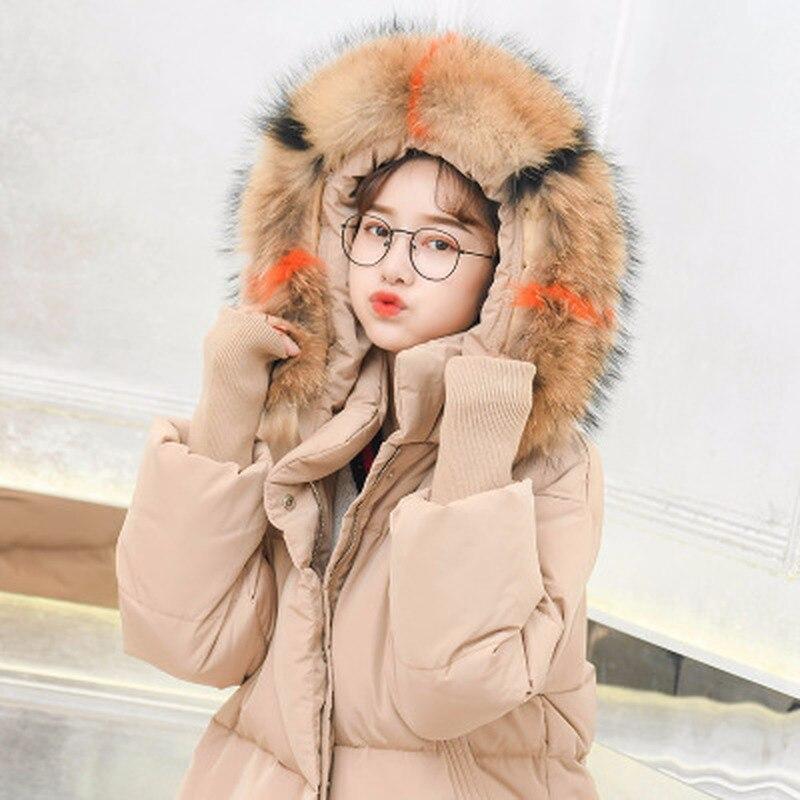 Korean Large Fur Collar Down Jacket Female Thick Short Coat Women 2020 New Parka Loose Winter Jackets Veste Femme KJ494