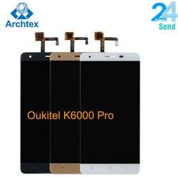 Do oryginalnego Oukitel K6000 Pro LCD w ekran LCD do telefonu komórkowego + montaż digitizera ekranu dotykowego LCD + narzędzia 5.5