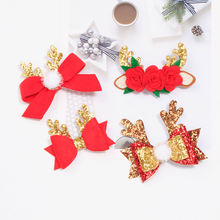 4 шт/лот блестящие рождественские заколки для волос девочек