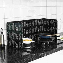 Cactus impresso folha de alumínio bloco de óleo anti-respingo de óleo protetor de respingo acessórios de cozinha cozinhar ferramentas gadgets