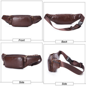 Image 3 - Flanker Genuine cow leather men waist bag casual small fanny pack travel waist pack cell phone bag crossbody bags man chest bag