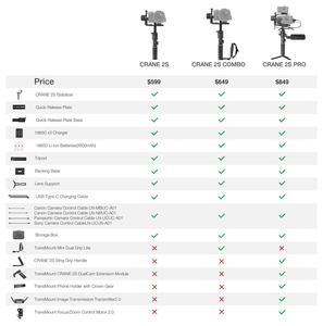 Image 5 - ZHIYUN resmi vinç 2S/COMBO/PRO el sabitleyici kamera Gimbal DSLR Sony Canon BMPCC Fujifilm kameralar dikey ateş