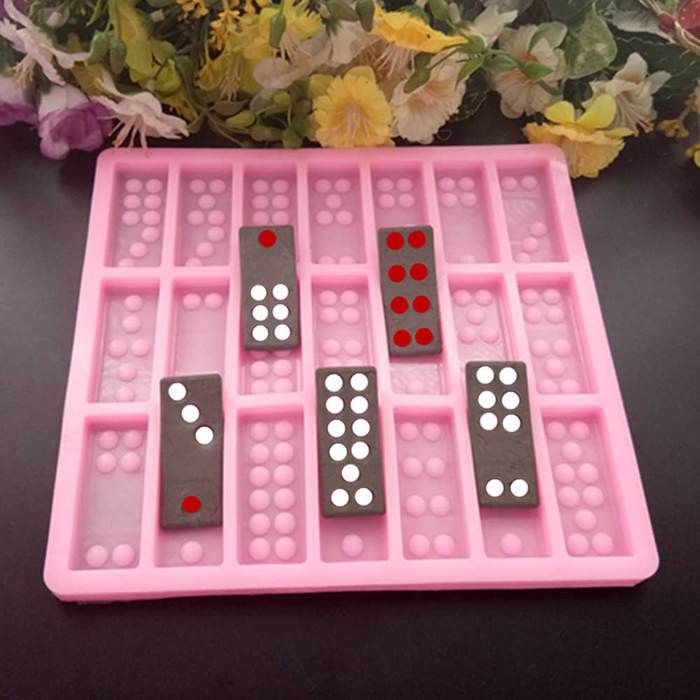 Foyozisun Resin Molds Domino DIY Domino Silicone Molds Domino Double Six Epoxy Resin Molds,Fun Craft Making Tool