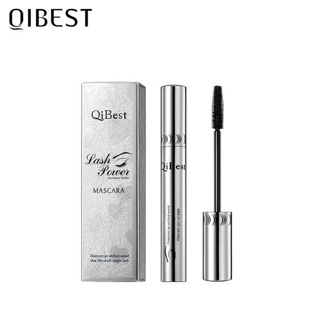 QIBEST Black Mascara Eyelashes Mascara 4D Silky Eyelashes Lengthening Eyelashes Makeup Waterproof Mascara Volume Eye Cosmetics 6