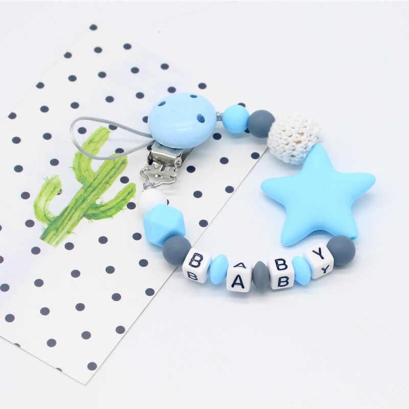 Новые силиконовые клипсы для соски буквенные формы DIY Красочные пустышки цепи для ребенка соска игрушки-Жвачки фиксатор