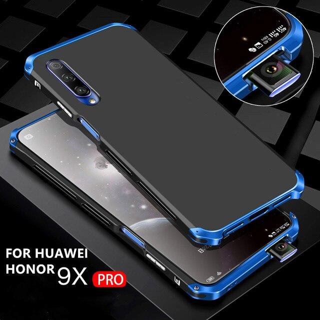 Luksusowe, odporne na wstrząsy pancerz metalowa obudowa Case dla Huawei Honor 9X 9X PRO guma pełna ochronna powrót Coque dla Huawei honor 9x 9x pro