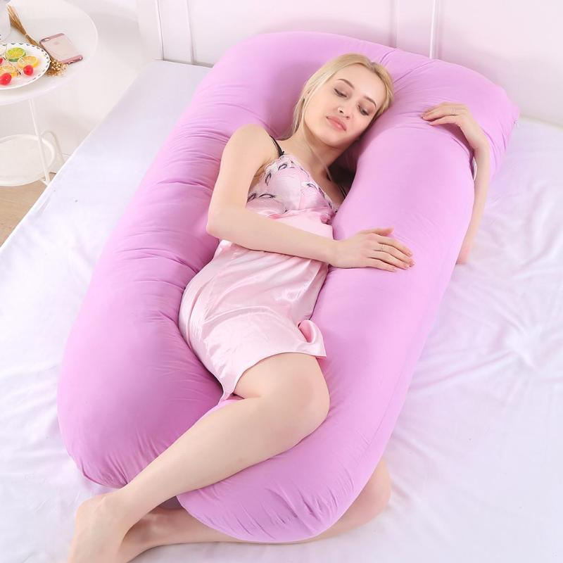 Pregnancy Pillow Case Side Sleeper 70*130 Cm Big Size Women Pillowcase Case Cotton Comfort Soft Cover U-Type Maternity Pillows