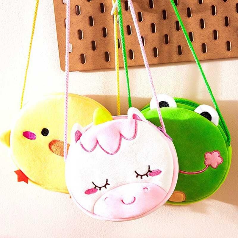 Fashion Children Girls Shoulder Bag Cute Unicorn Frog Animals Messenger Bag Kids Keys Coin Purse Cute Princess Mini Handbag