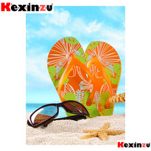 kexinzu 5d diy Diamond Painting kit Slippers sunglasses Cross stitch Diamond Emb