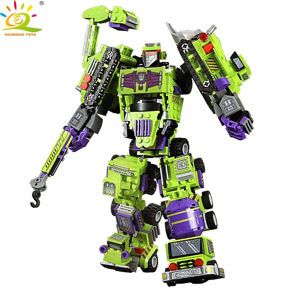709pcs 6in1 Mech Robot Autobots Building Blocks Set Compatible Legoingly City Car Vehicle Bricks Construction Toys For Children