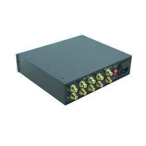 Image 4 - Streo リモートボリューム Conrol プリアンプと高音低音トーンコントローラ事前アンププリアンプハイファイオーディオ 4 で 1 アウトパワーアンプ